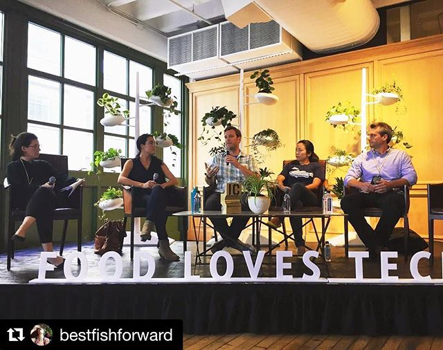 Honored to contribute to the conversation today at @foodlovestech alongside #innovators @billionoysterpete @seatotable and @thebetterfish talking about the future of seafood and ways we use business as a vehicle for positive change in our oceans. Thanks to @ediblebrooklyn, @ediblemanhattan, and @foodlovestech for bringing us together today! 🐟🐟🐟 Repost: @bestfishforward