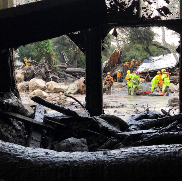 Our hearts are heavy with the devastation and destruction our community has endured from the fire and floods. Sending our love and prayers to our friends and neighbors in these incredibly difficult times, and to the emergency and rescue workers - and all of the helpers - working around the clock to bring people to safety. #montecito