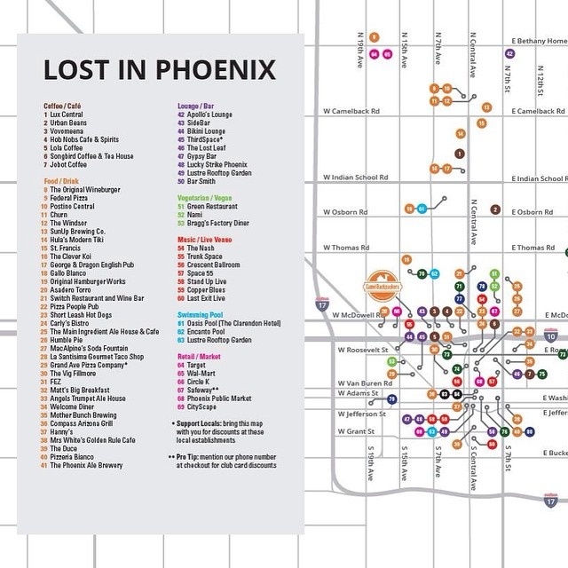 ... and a sneak peek at the new printed map! #camelbackpackers #phoenix #hostel