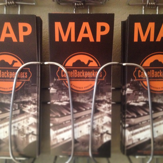 New maps are in! Can you say hello beautiful? #camelbackpackers #phoenix #hostel #dtphx #myphx