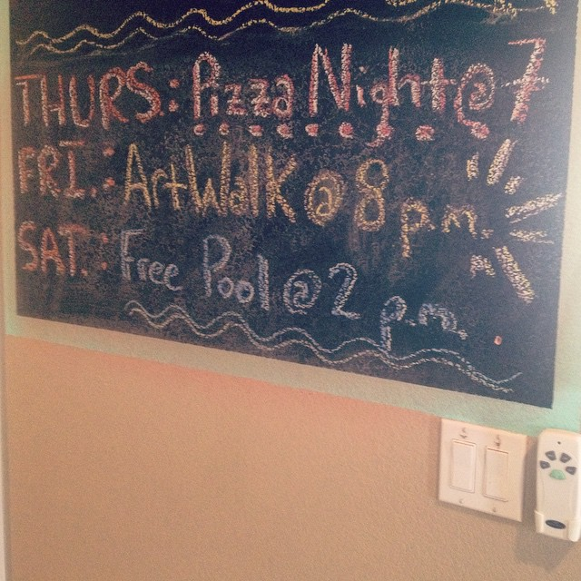 Gearing up for the weekend, #Phoenix-style! #camelbackpackers #hostel #eventsboard #hostellife #pizzanight #artwalk #freepool #dtphx #myphx #dtphxlove