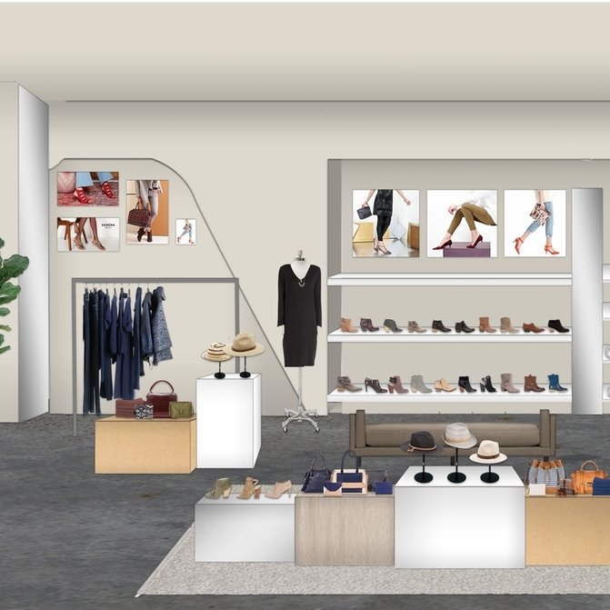Sole society - 3D Rendering for pop-up store