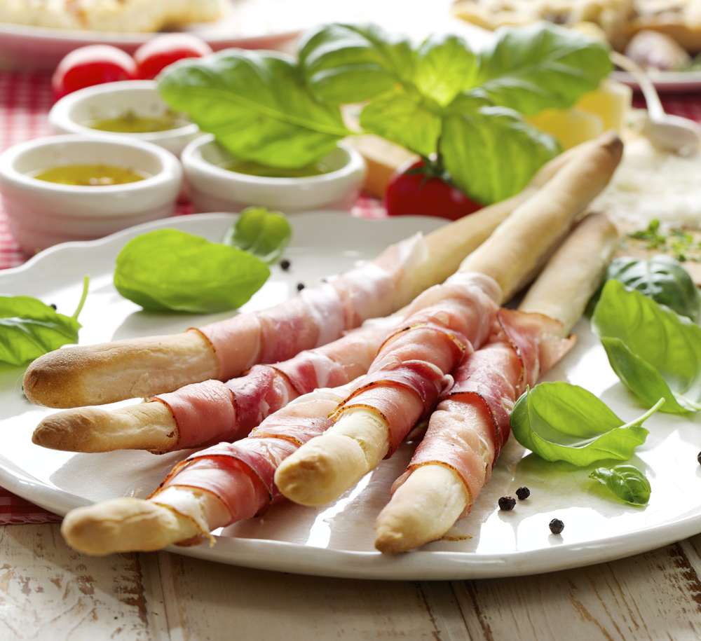 Italian Grossini wrapped with Prosciutto Borgo