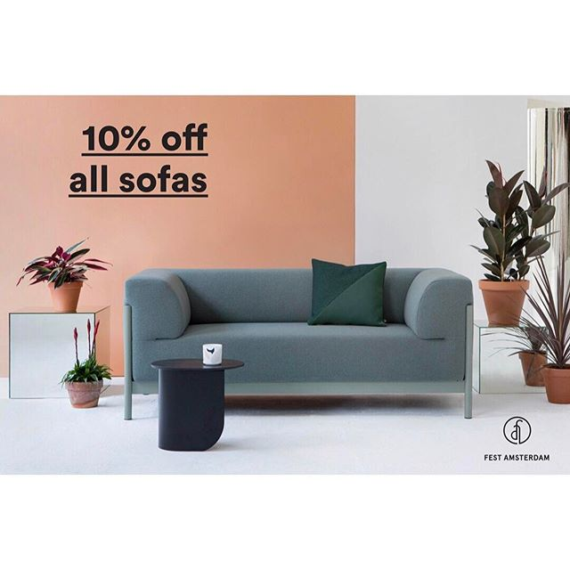 ! IT'S TIME FOR A #SUMMER TREAT ! 🌵🌻☀️ • Between May 15th - June 15th you will #enjoy a 10% #discount on all #sofas by #festamsterdam ! • #gogogogogo !  #brussels #design #thegamedesignstore #thegameonline #interiordesign #spring #webshop #dutchbrand #colours #sofasinstock #kvadrat #somanyoptions