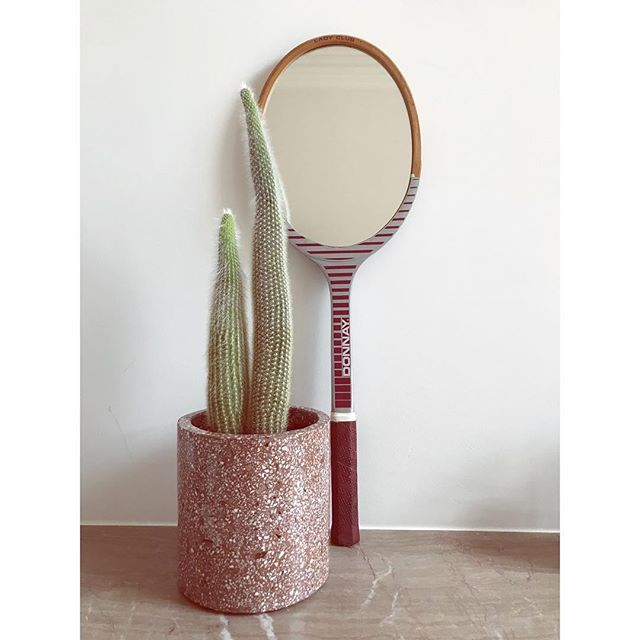 A #tennis kind of #sunday.  #donnaylove 🏸 • www.the-game-online.com • #thegameonline #thegamedesignstore #brussels #design #onlineshop #onlinestore #terrazzo #flowepot #cactus #defactstudio #miroirmiroir #home #ourhouse