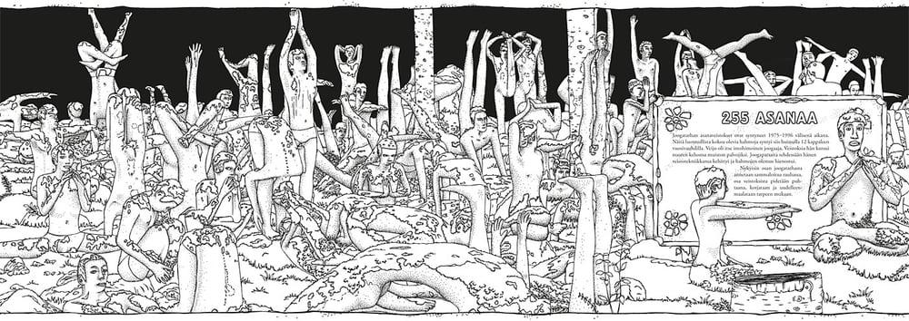 Itse väritetty elämä: 255 asanaa Piirrokset: Atte Paju, Kuvankäsittely & taitto: Kimmo Heikkilä