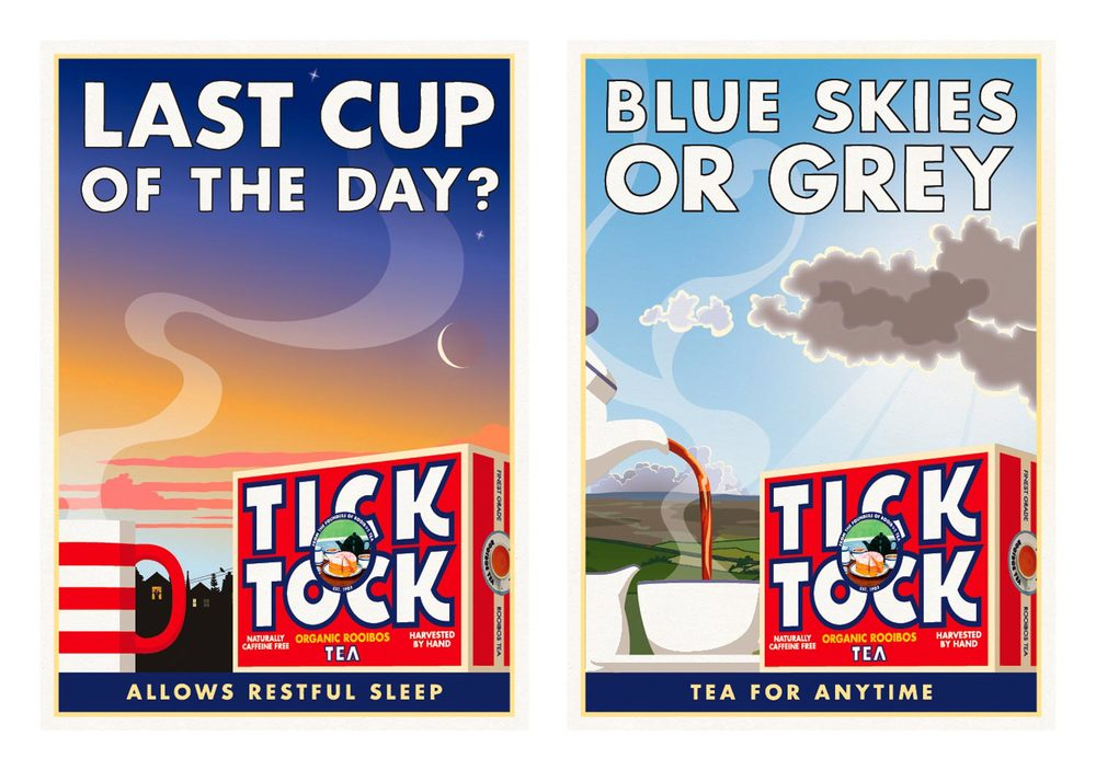 Tick Tock / Poster / Last Cup Of The Day - Blue Skies Or Grey
