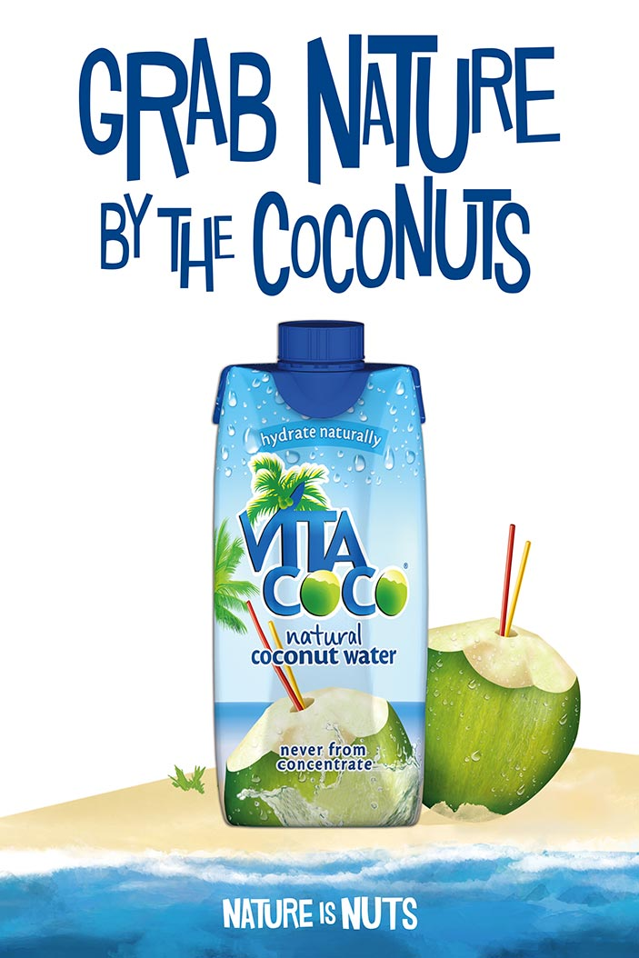 Vita Coco / Poster / Grab Nature By The Coconuts