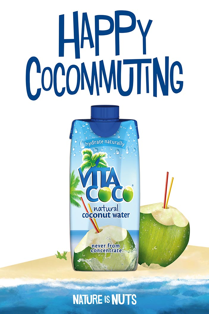 Vita Coco / Poster / Happy Cocommuting