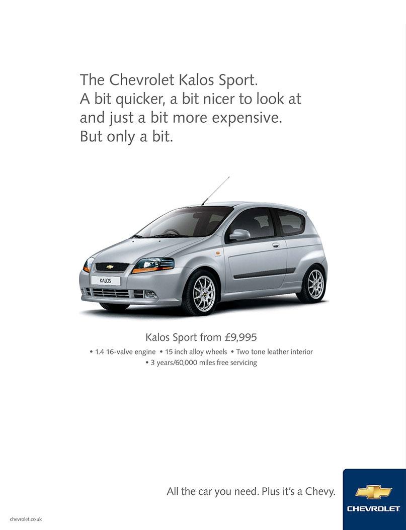 Chevrolet / Kalos Sport Ad