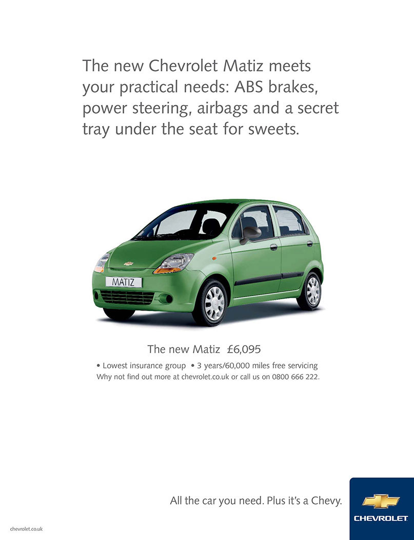 Chevrolet / Matiz Ad