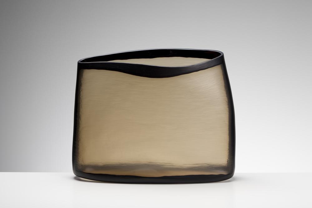 """"""" 2014 Blown glass, wheel cut. 33 x 42 15 cm..jpg"""