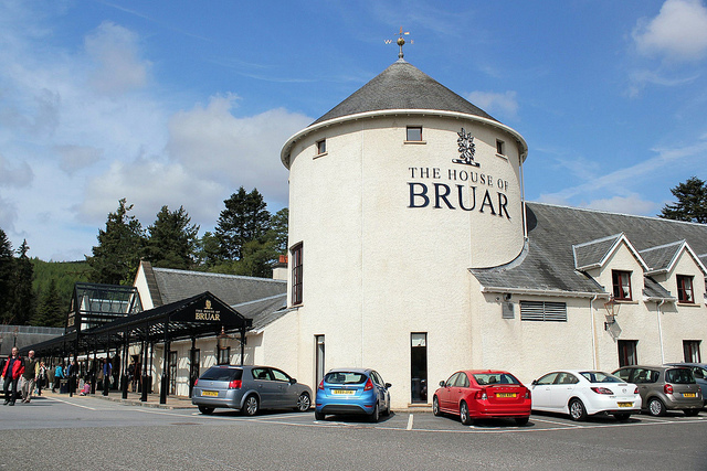 House of Bruar Situated in rural Perthshire 34 miles South of Glentruim, The House of Bruar boasts some of Scotland's finest produce, clothing and rural artwork. Here you'll find traditional Scottish tweed, cashmere jumpers and luxury food hampers. Tel: 01796 483 236 www.houseofbruar.com
