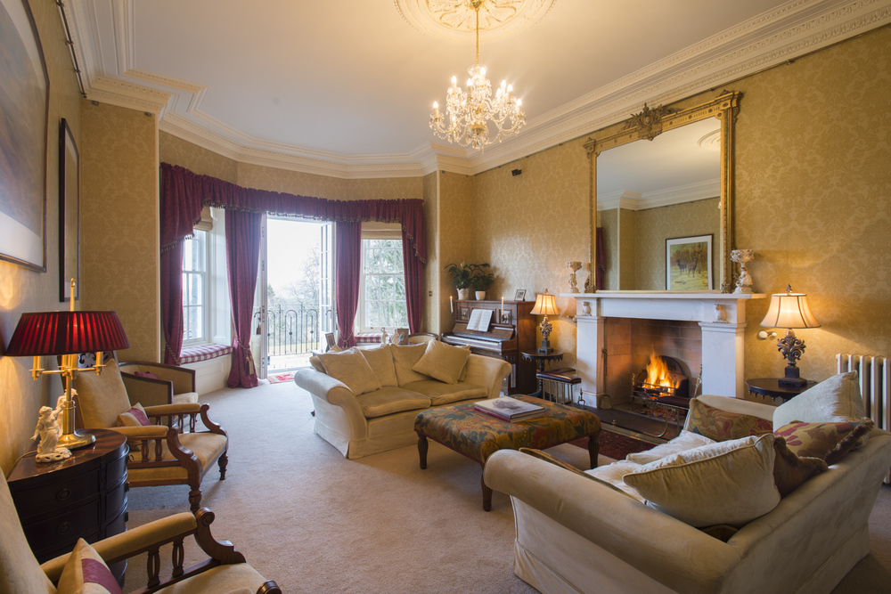 The newly decorated Drawing Room at Glentruim Castle.