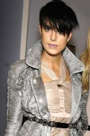 Agyness Deyn in ruched silk