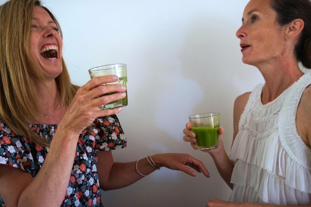 Nicola and Karen from Loose Debra keeping it real.Cheers!