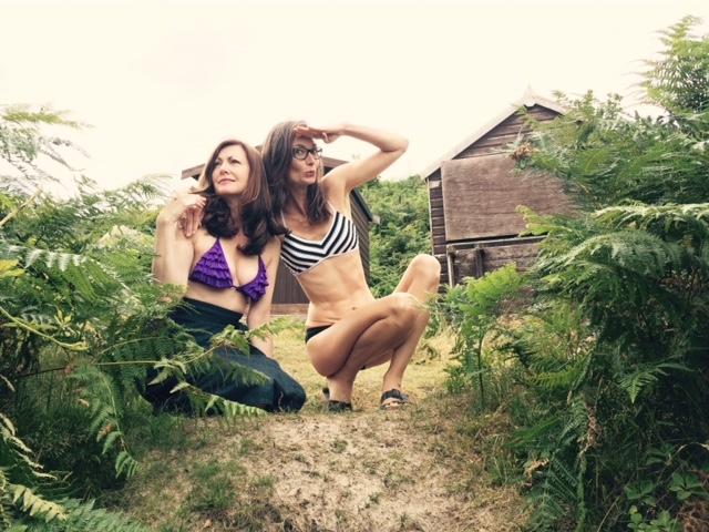 Fiona and Karen wearSeafolly bikinis