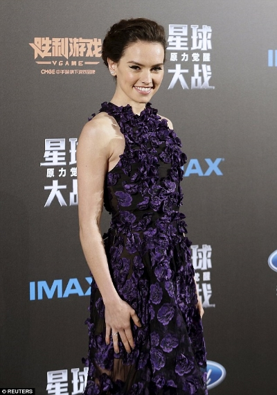 Daisy Ridley in Ruffle Dress