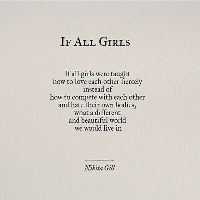 Nice work from poet @nikita_gill  #learnwell #sisters #ifallgirls #holdhands #wevegotthis
