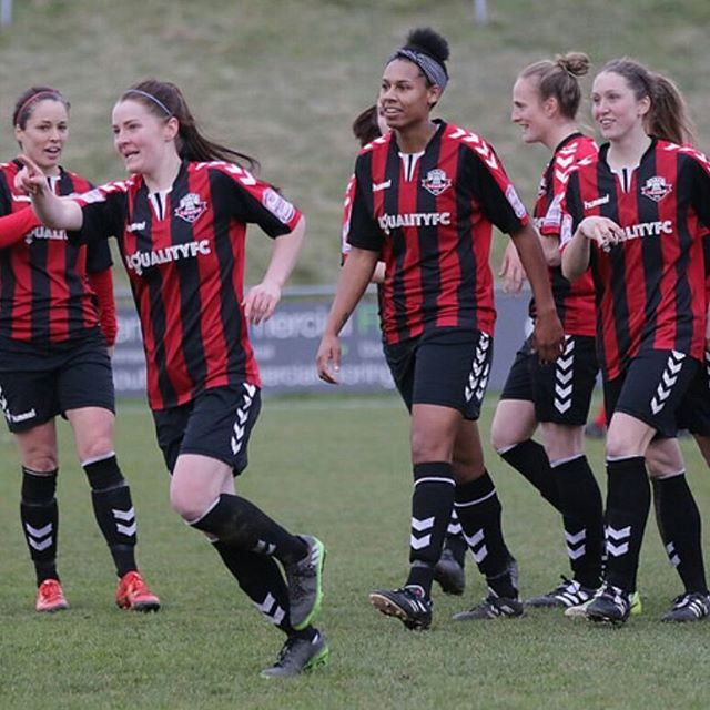 Lewes Football Club's @lewesfc_123 womens' team, and newfound fans. Link to our piece in Huff Post today in bio, explaining why, if you've not liked football before, now is the time to get to a womens' footie match at Lewes and be counted on the gate. Pictures of Lewes Womens' Team by @gingeraction  #equalityfc #unlockthegate #closingthegap #womenwithballs #coyr #alevelplayingfield #zeitgeist #womensfootball #changingtheworld