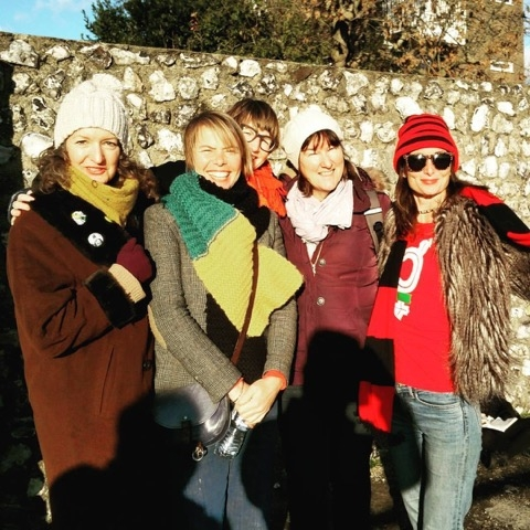 Us new football fans at The Dripping Pan
