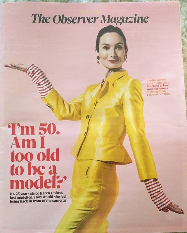 So I wrote a blog post called Game of Crones, it was spotted by the awesome Editor of #observermag & next thing you know, I'm asked to develop the piece, which was published today. Delighted to be shot by @ramshergill for the cover 😊😎 Enjoy reading about my brief spurt as an #oldermodel with facts on the #classicmodelling scene in the UK #fashionmodelling #demystifying #bluesteel #zoolanderhasnothingonme #humaninterest