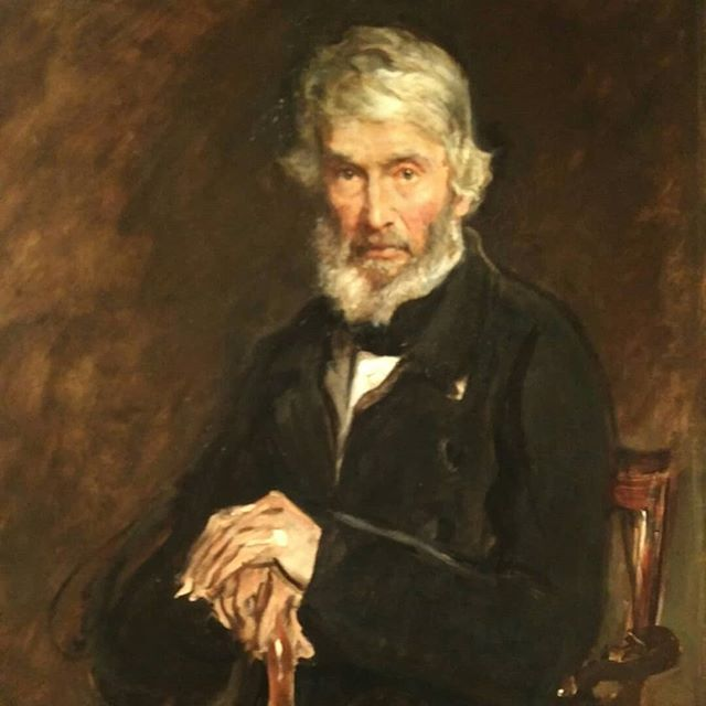 This picture of Thomas Carlyle was slashed three times by suffragette Ann Hunt in protest. It hangs close to a display in the National Portrait Gallery called Votes for Women which commemorates this year being the centenary of some women and some more men achieving the vote. Without the right to vote there is little active participation in society. Suffragettes fought hard for social change and human rights. They knew that art and culture are essential to society, and attacked the male dominated culture which subsumed women's rights and value. Carlyle's face has been restored, as has women's rightful place in UK society. Although they say the three gashes are still evident I stared for minutes and could only just spot them. I think. #suffragette #humanrights #art #culyure #socialchange #votesforwomen #deedsnotwords