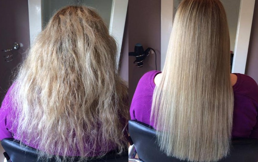 Amazing Before and After results using Agave Smoothing Treatment