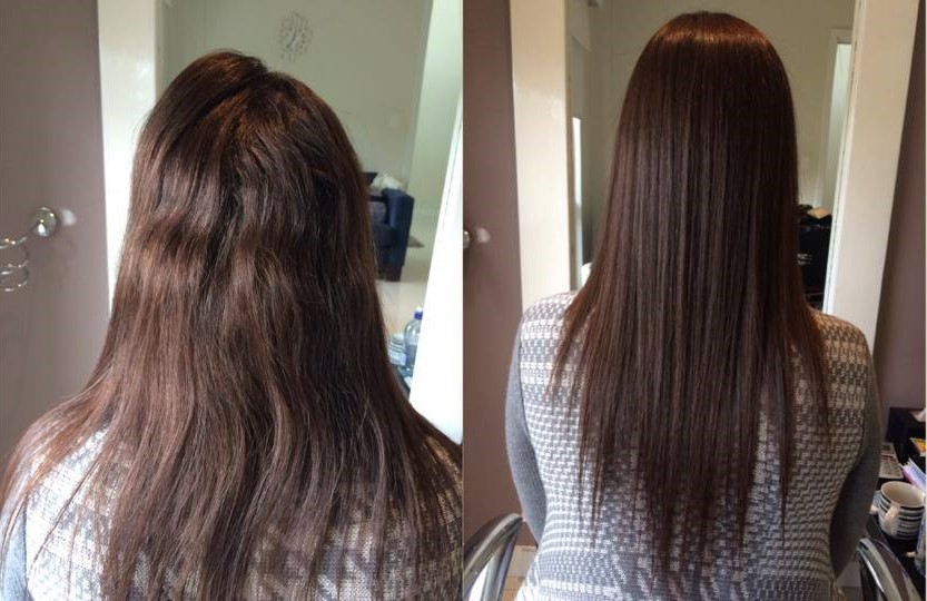 After 12 Months Treating her re growth Japanese Straightening