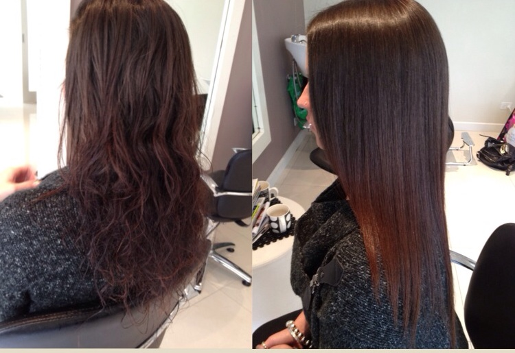 Before and After First Japanese Straightening