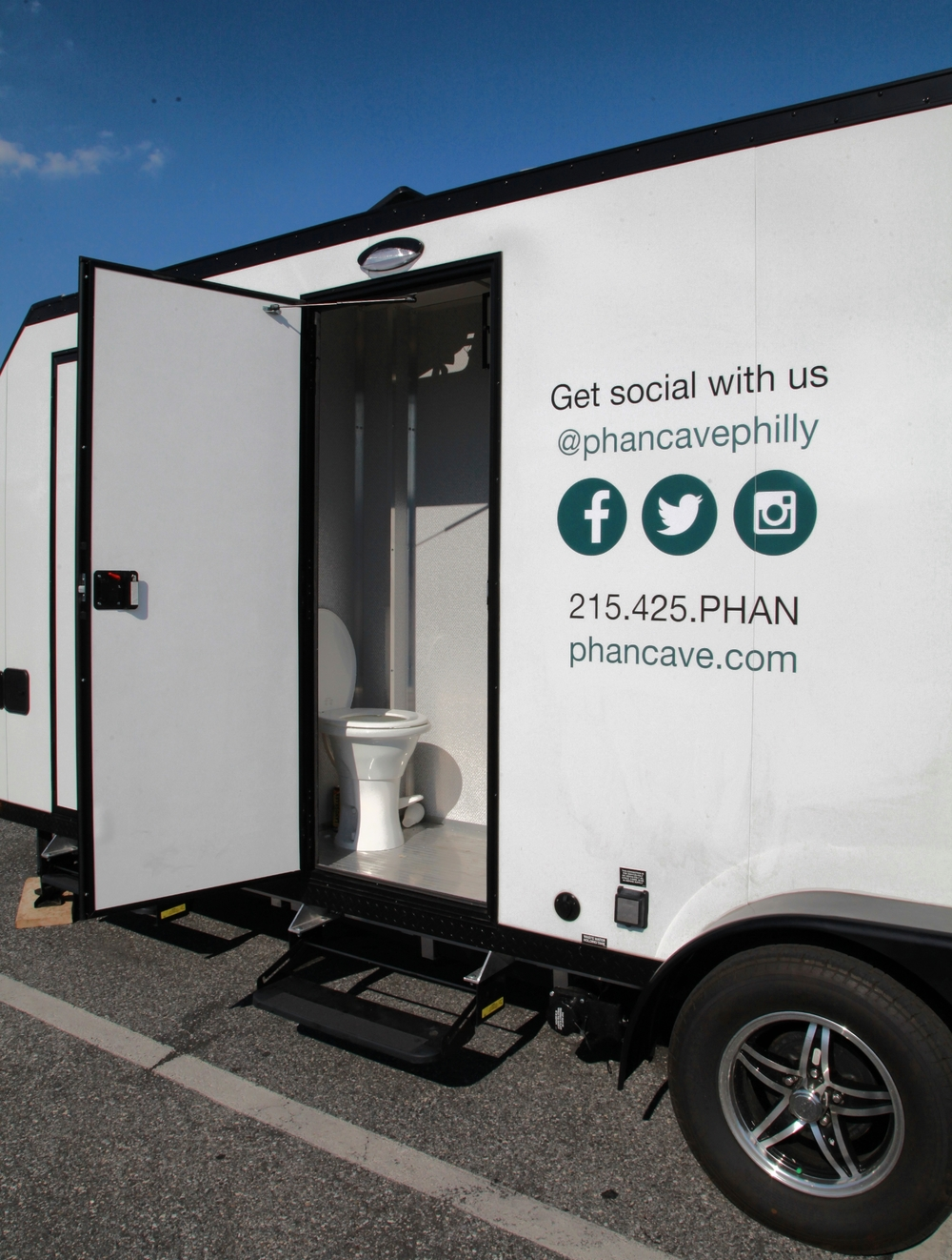 Two private bathrooms for your biggest Phan's!    Rent the Phan Cave for your next tailgate and become the envy of the lots!