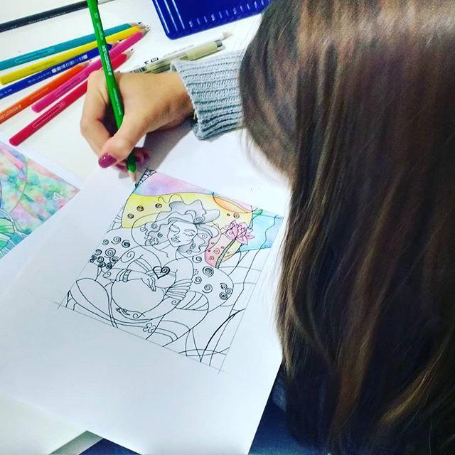 Desenho em execução da Matilde 🙂 #artclass #arteparajovens #artstudio #arte #ateliervss #inscriçõesabertas #drawing #desenho