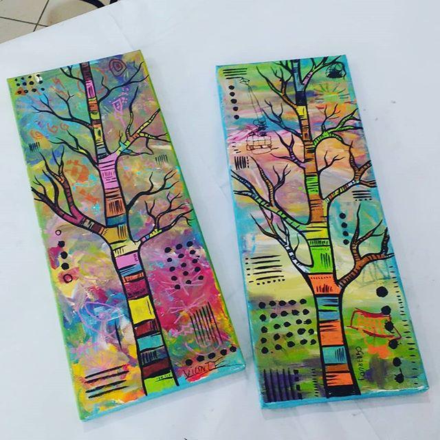 Trabalhos do Lourenço e Vicente 😍 #arteparacrianças #arte #artstudio #kids #pintura #painting #tree #colors #areeiro #lisboa #lisbon #portugal