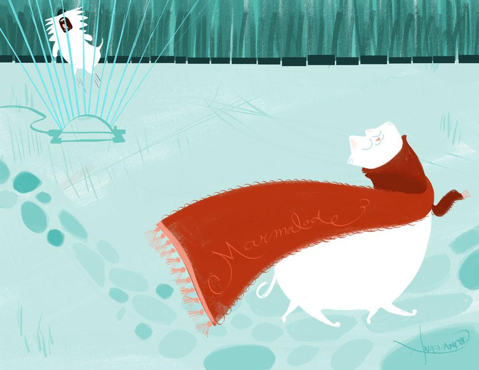 """Meet """"Marmalade"""". The cat who appreciates...details!"""