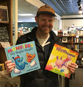 I met Aaron during a December book signing at The Bookman bookstore.