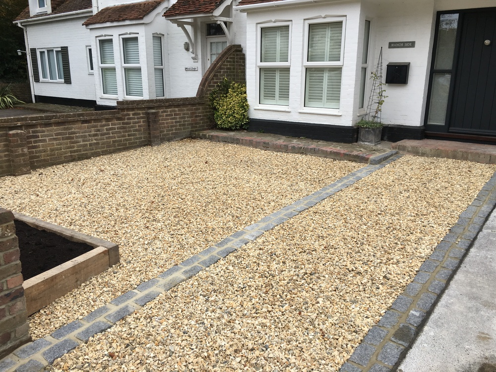 New Gravel Driveway Just Gardens Sussex