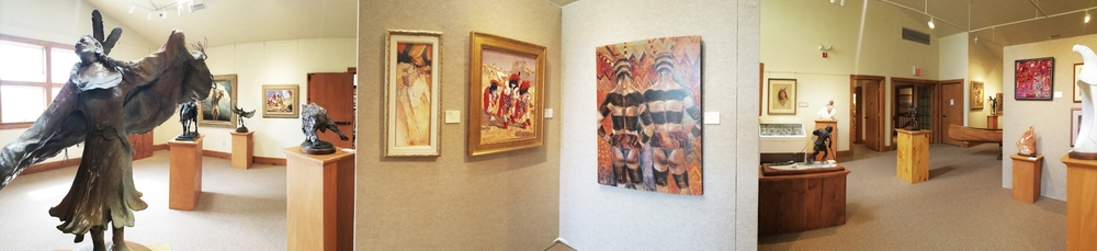Panorama of gallery done by Assistant to the Gallery Director, Taylor Hutchins.