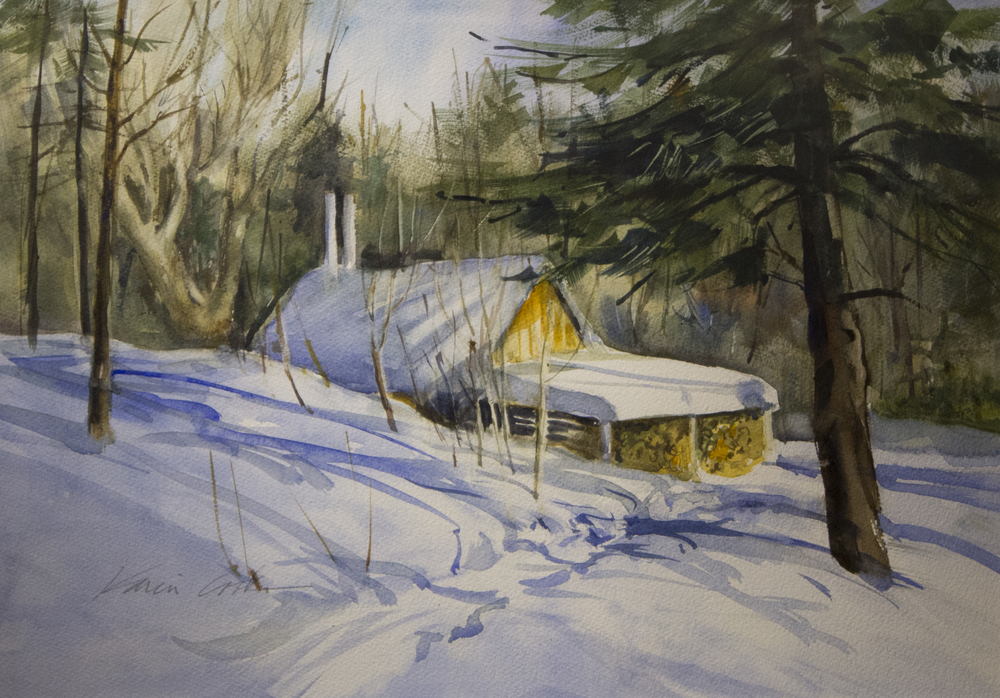 Ready to Boil, watercolor by Karin Cook
