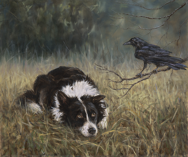 Drewyer_1_Council of Crow_20x24 OIL.jpg