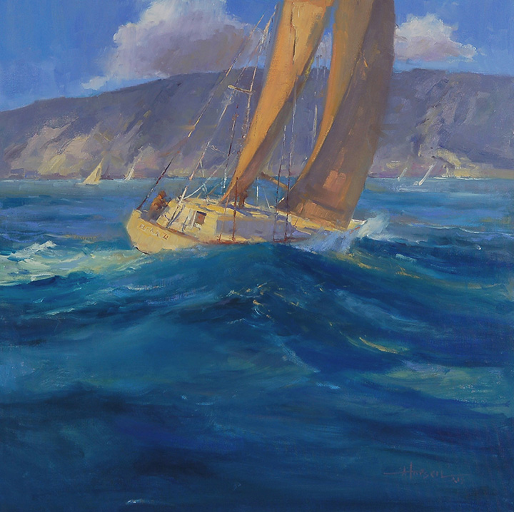 Larsen_ Clear Sailing_32x32_oil.JPG