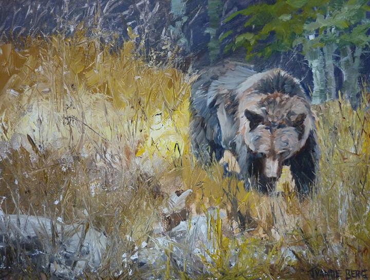 Vande Berg 4, Meadow Visitor, Oil, 12 X 16,.jpg