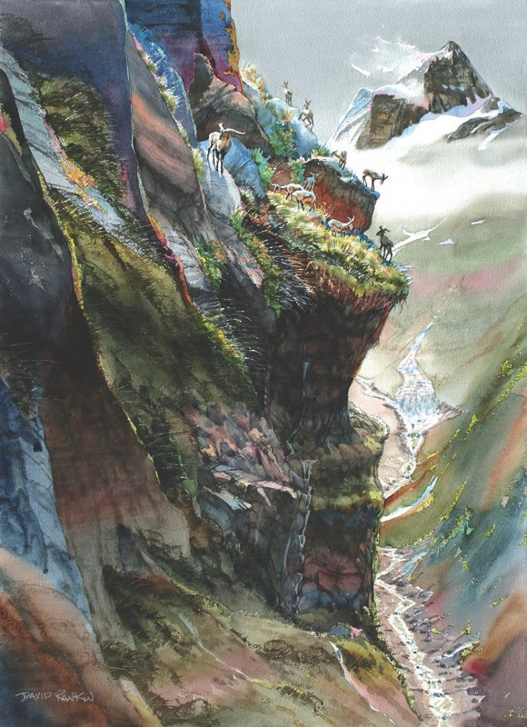 Detail of Himalayan High Country Vista by David Rankin