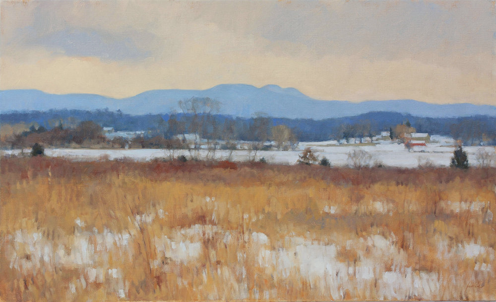 69 - Winter on the Flats, 22 x 36, Oil