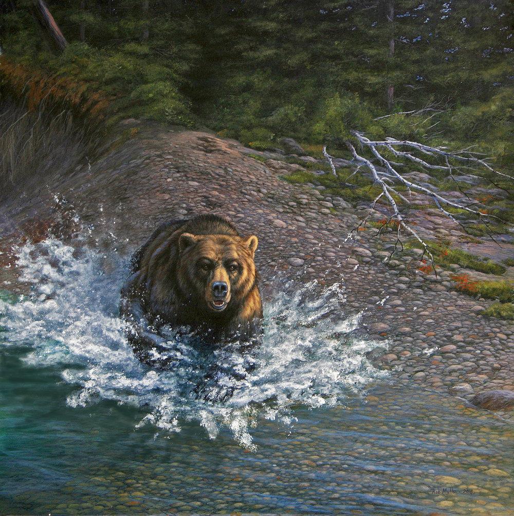 3 - Alaska Cold Rush, 24 x 24, Acrylic
