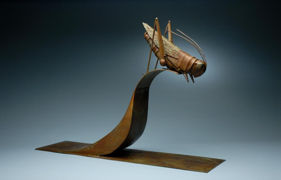 23 - Grasshopper, 23 x 32.5, Bronze