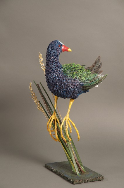 43 - Purple Gallinule, 20 x 11 x 17, mild steel, painted