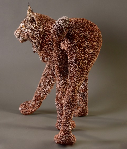 59 - The Bobcat, 20 x 28 x 15, mild steel, nickel-plated, painted, clear-coat