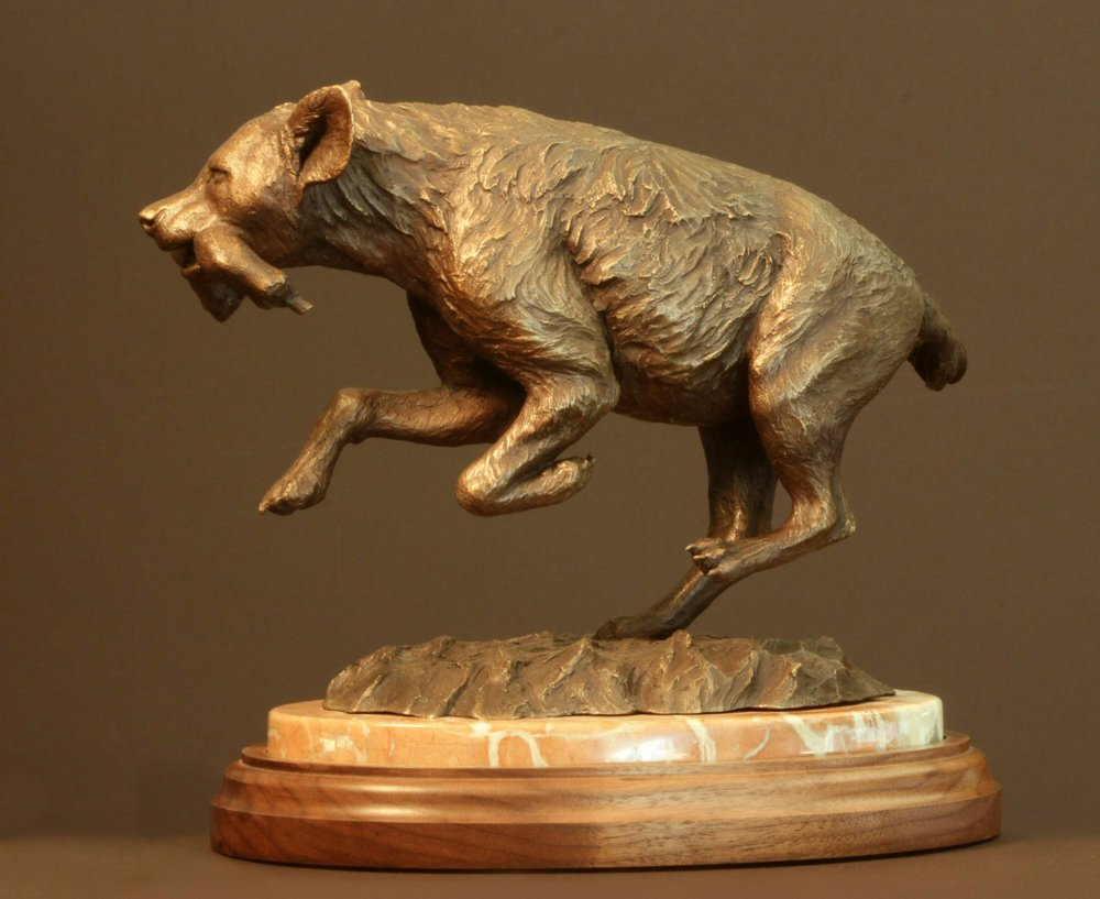 86 - Prized Possession, 12 x 7 x 10, Bronze