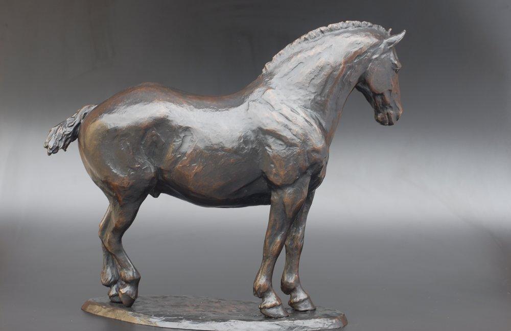 97 - Ira's Horse, 16.5 x 20 x 7, Bronze