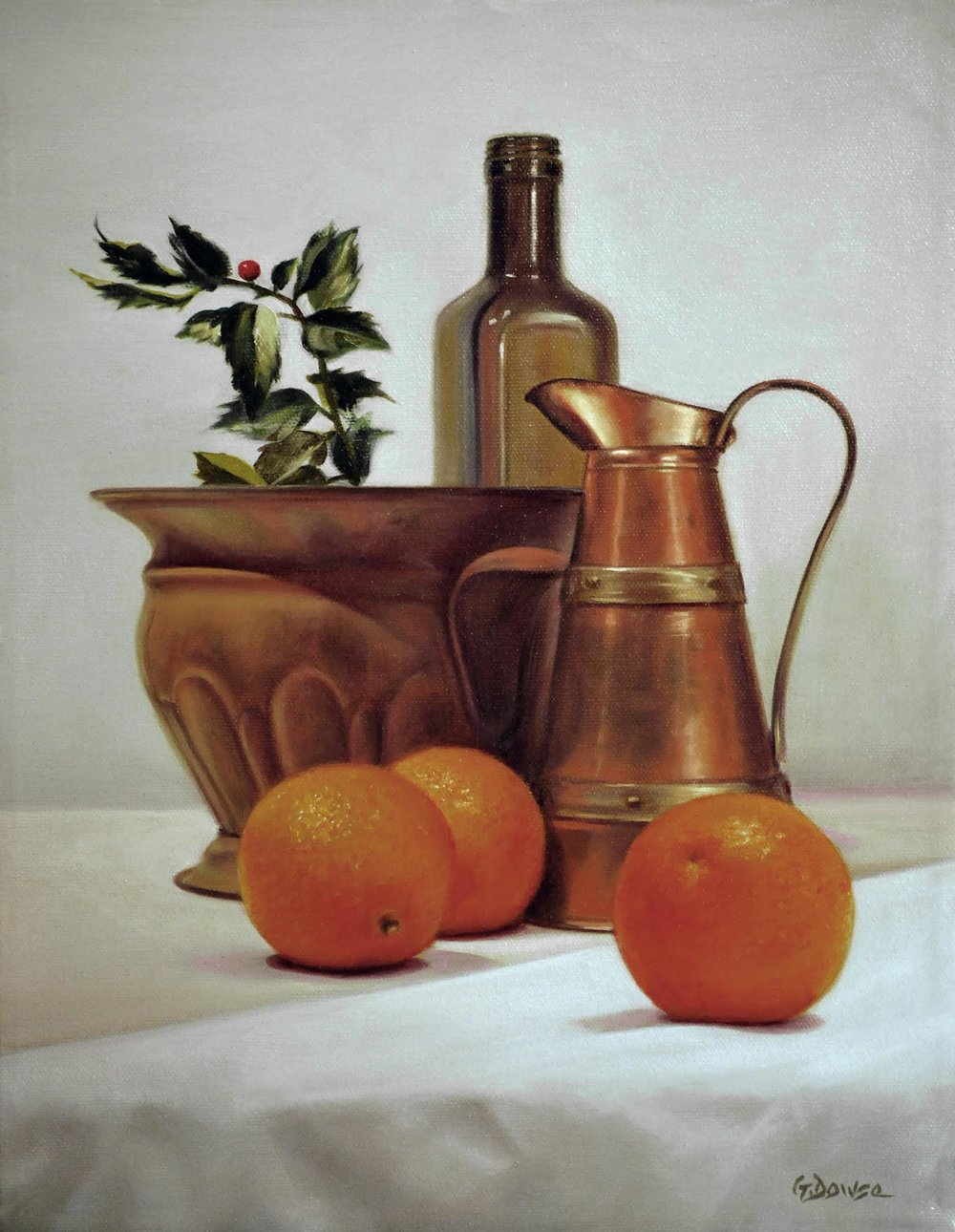 96 - Copper and Orange, 14 x 11, Oil